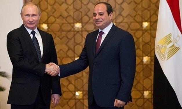 پوتین: مسکو به دنبال روابط پیشرفته تر با قاهره است