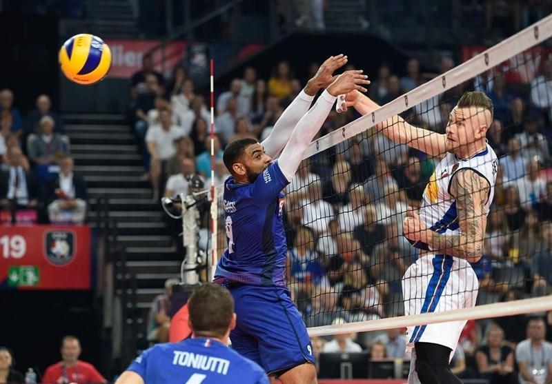 والیبال قهرمانی اروپا، 4 تیم مرحله یک هشتم نهایی معین شدند، ایتالیا مغلوب فرانسه شد