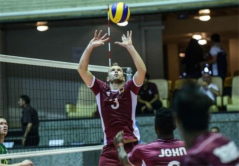 والیبال قهرمانی آسیا، پیروزی قاطعانه قطر مقابل سریلانکا