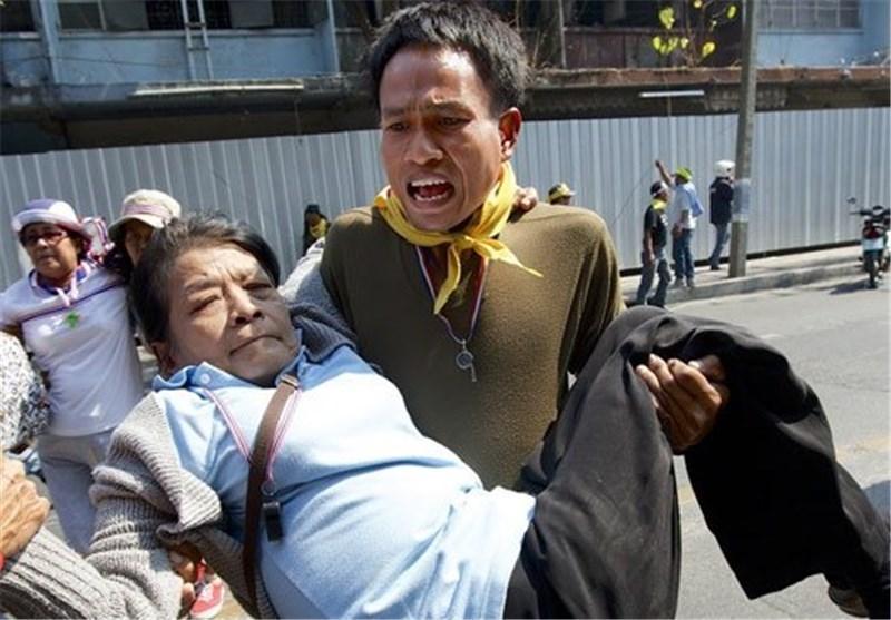زخمی شدن دو معترض تایلندی براثر انفجار نارنجک