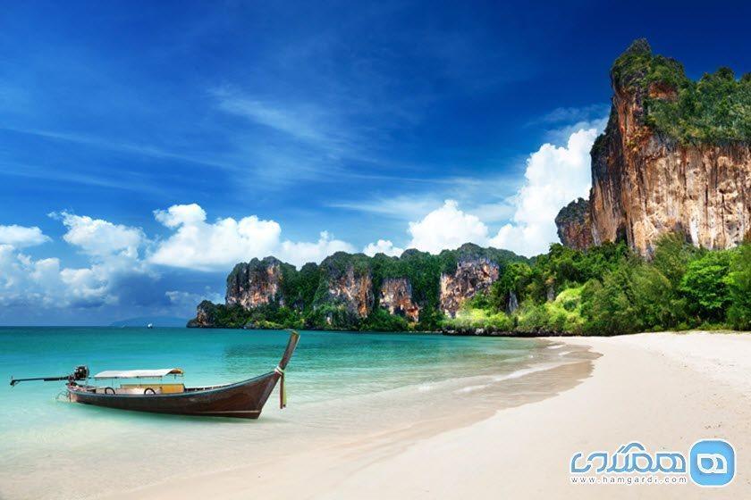 ساحل ریلی، ساحلی دیدنی در کرابی تایلند