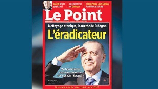 جنجال در پی انتشار عکس اردوغان روی مجله فرانسوی، آنکارا: کردها وکیل نمی خواهند،دوره استعمار گذشت
