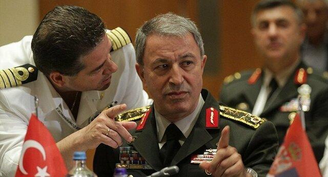 ابراز تردید وزیر دفاع ترکیه درباره خروج کامل کردها از شمال سوریه
