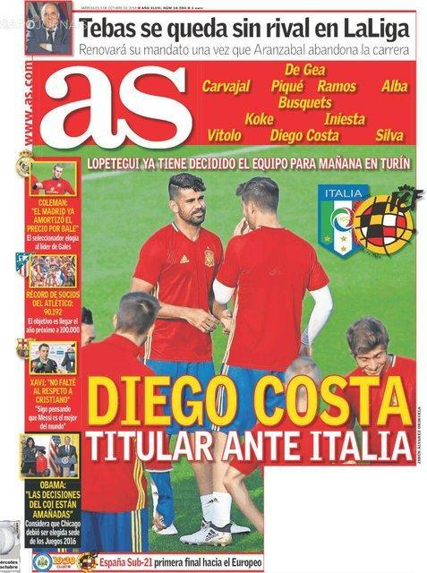 نگاهی به تیتر نخست روزنامه های ورزشی اسپانیا