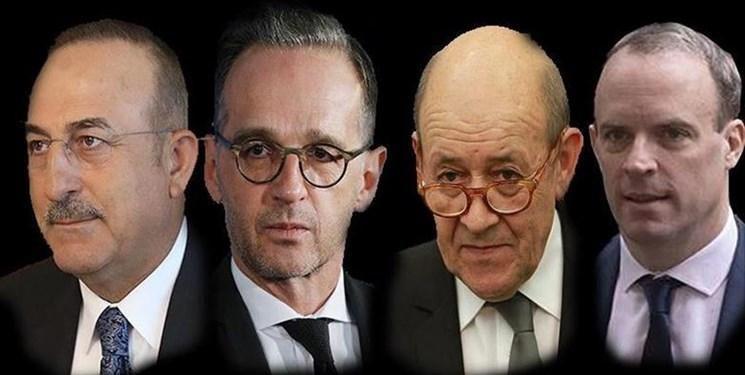 رایزنی مشترک ترکیه، آلمان، فرانسه و انگلیس درباره عراق، سوریه و لیبی