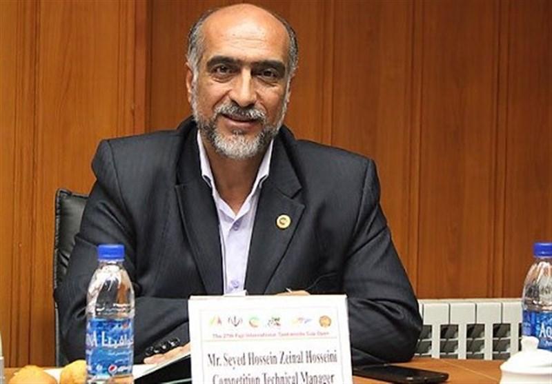 حسینی: برای همراهی با سازمان لیگ تکواندو جان بازیکنان را به خطر نمی اندازیم