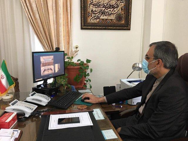 مشارکت مجازی جابری انصاری در نشست کارگروه ویژه ایرانیان سفارت ایران در برلین
