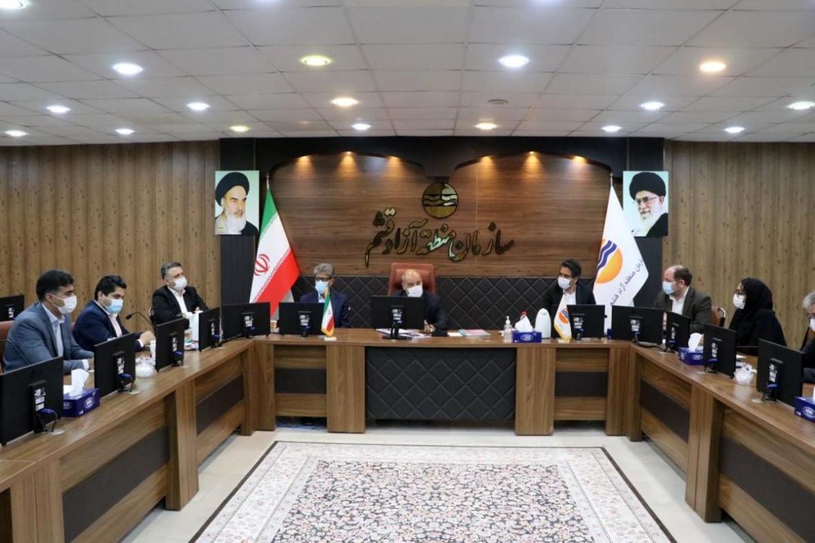 جلسه آنالیز 31 پروژه سرمایه گذاری و عمرانی در منطقه آزاد قشم برگزار گردید