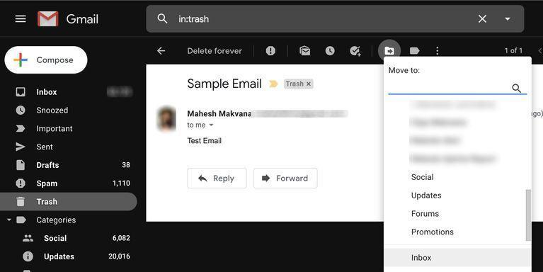 چگونه ایمیل های حذف شده در جیمیل را بازیابی کنیم؟