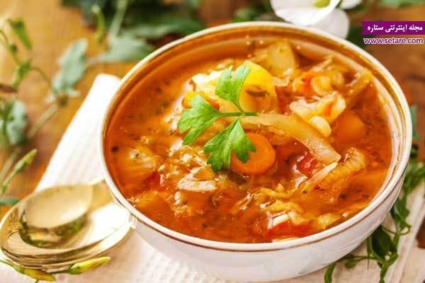 طرز تهیه سوپ سبزیجات رژیمی (سوپ چربی سوز)