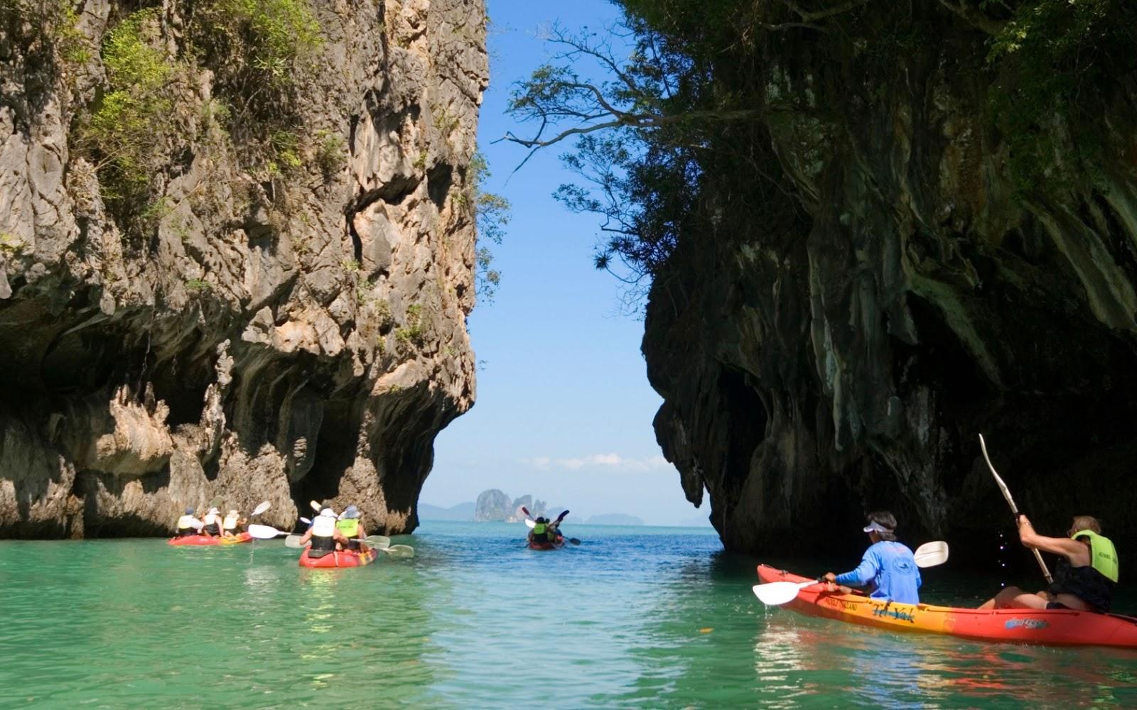 قایق سواری در خلیج Phang Nga پوکت